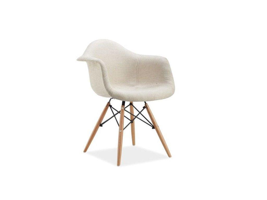 Židle BONO buk/krém polstrování.35