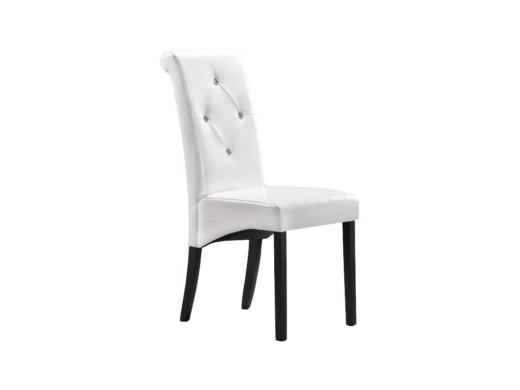 Židle C121 l venge/bílá
