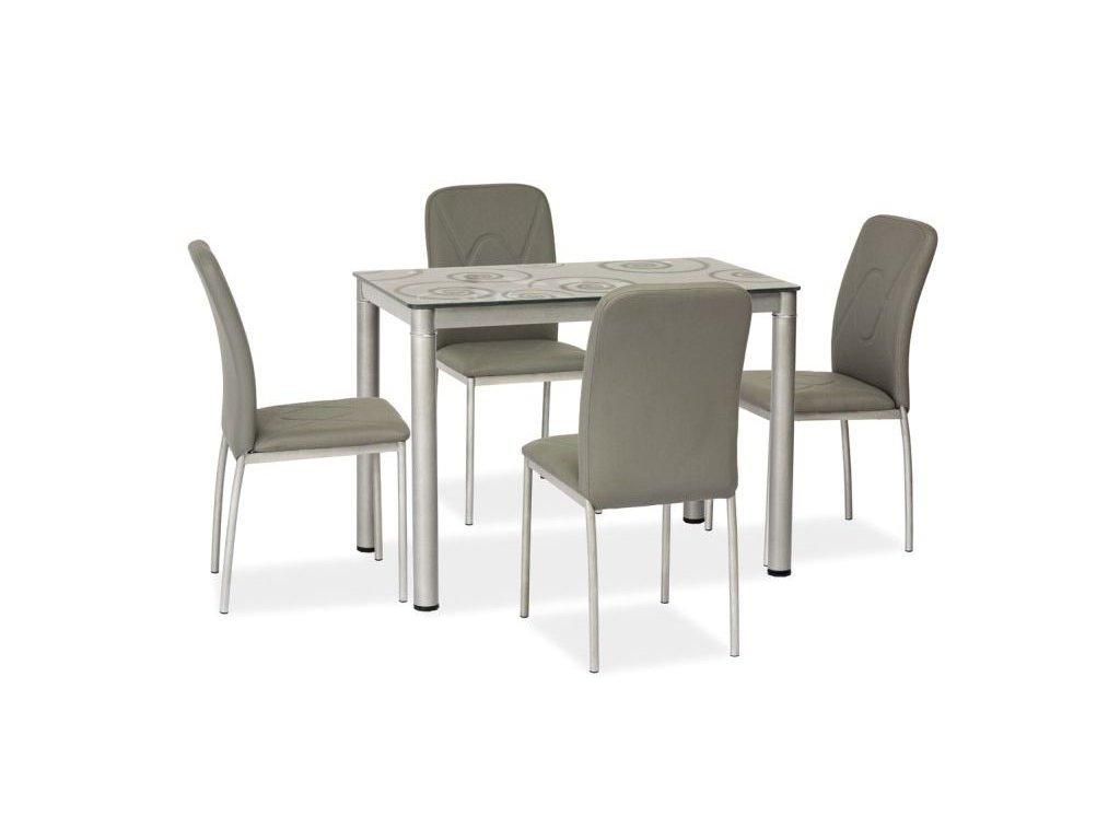 Stůl DAMAR šedý 80x60