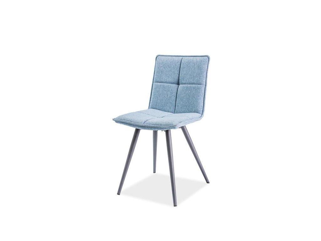 Židle DARIO šedá/modrá polstrování.31