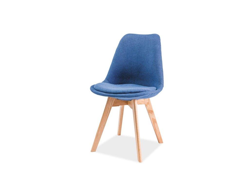 Židle DIOR dub/modrá polstrování.33
