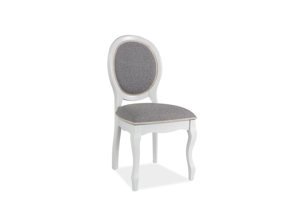 Židle FNSC bílá/šedá polstrování.46