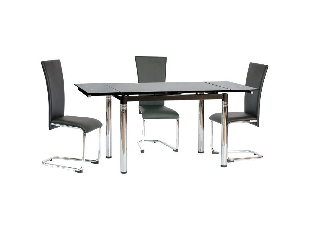 Stůl GD018 černý 110(170)x74
