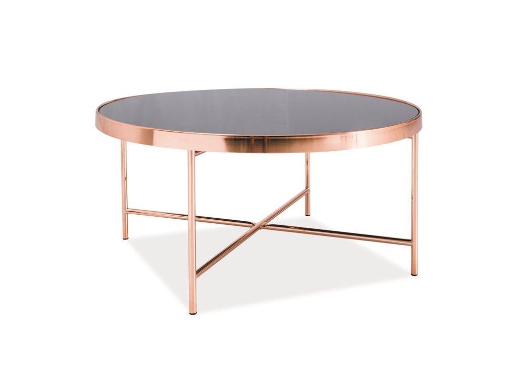 Konferenční stolek GINA B černá/měď