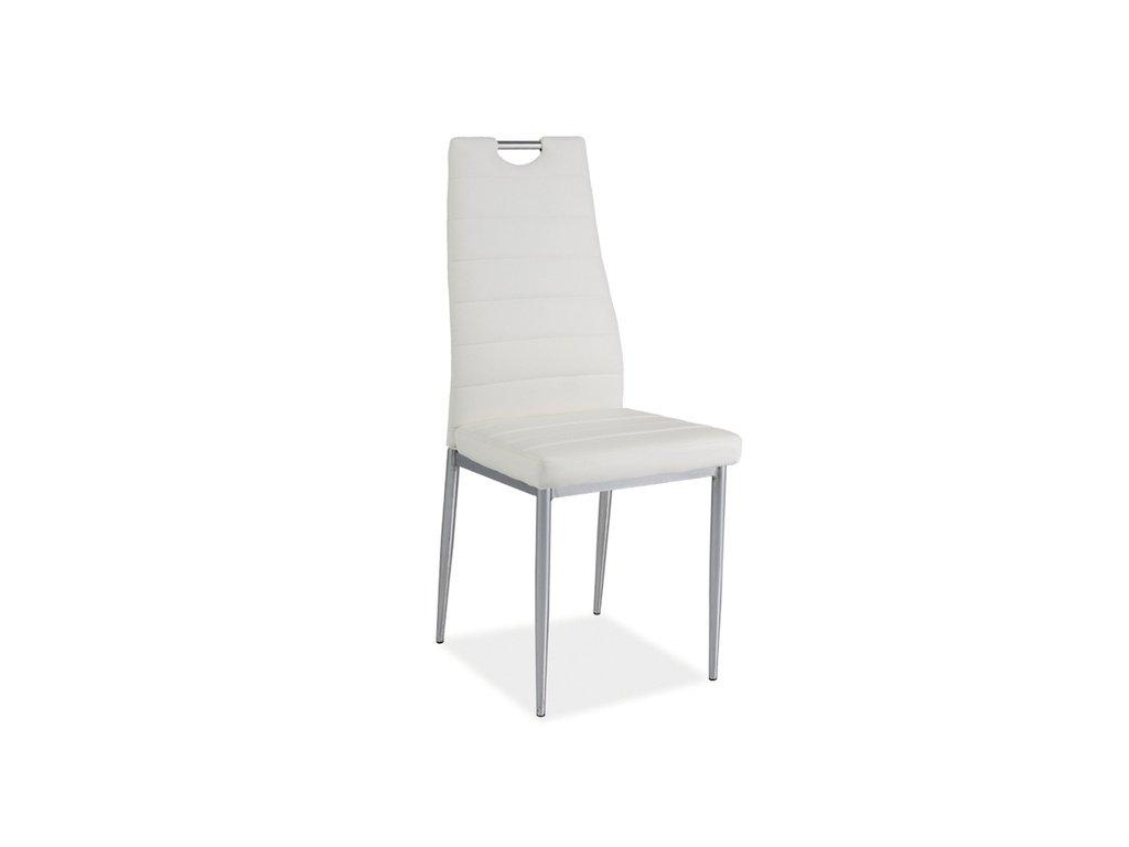 Židle H260 bílá/chrom