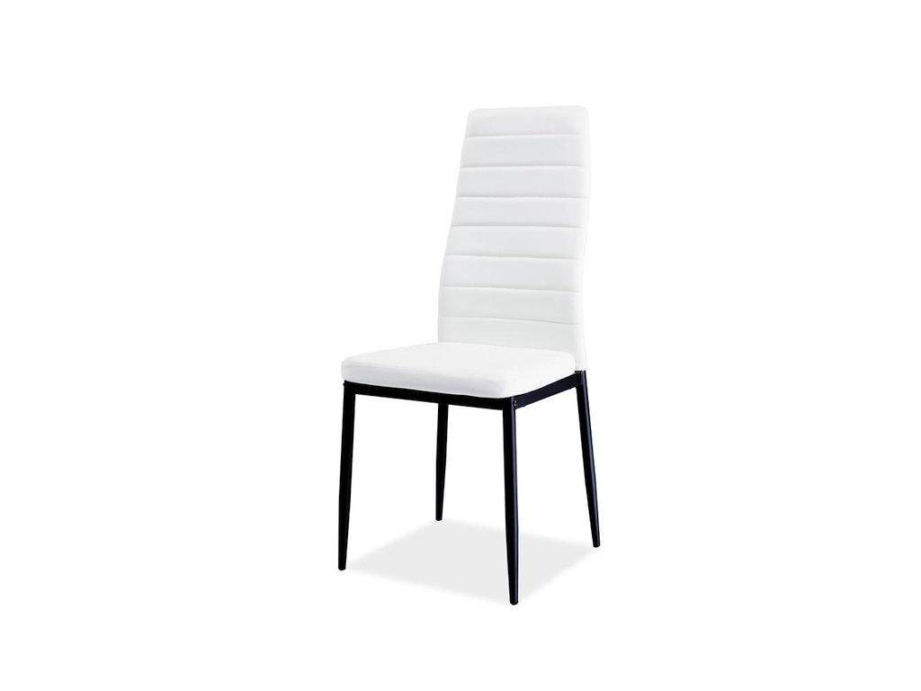 Židle H261 bis černý rošt/bílá