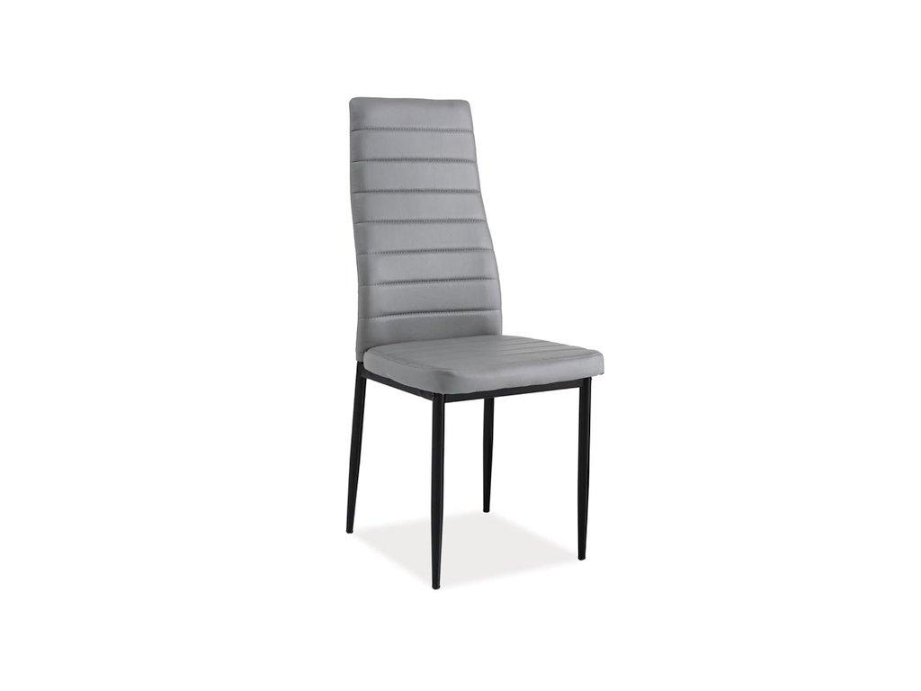 Židle H261 bis černý rošt/šedá