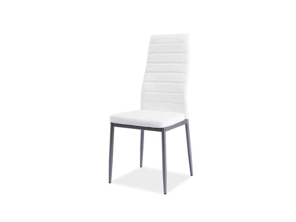 Židle H261 bis hliník rošt/bílá