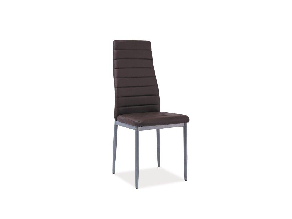 Židle H261 bis hliník rošt/hnědá