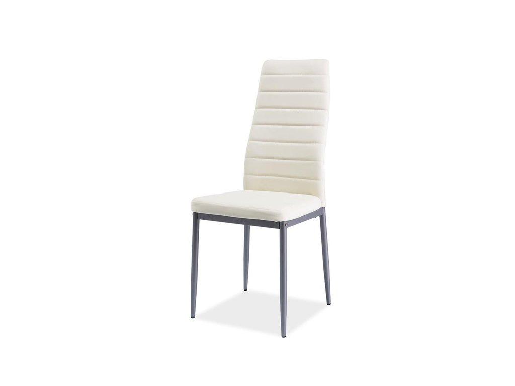 Židle H261 bis hliník rošt/krém