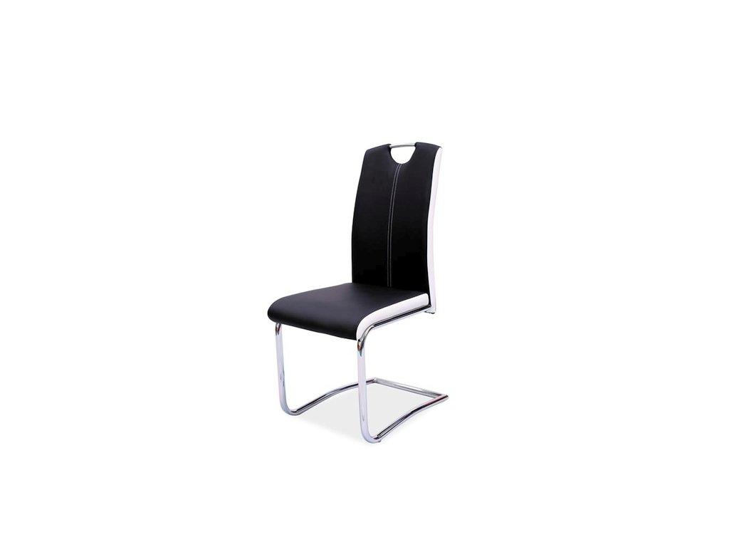Židle H341 černá/strany bílé