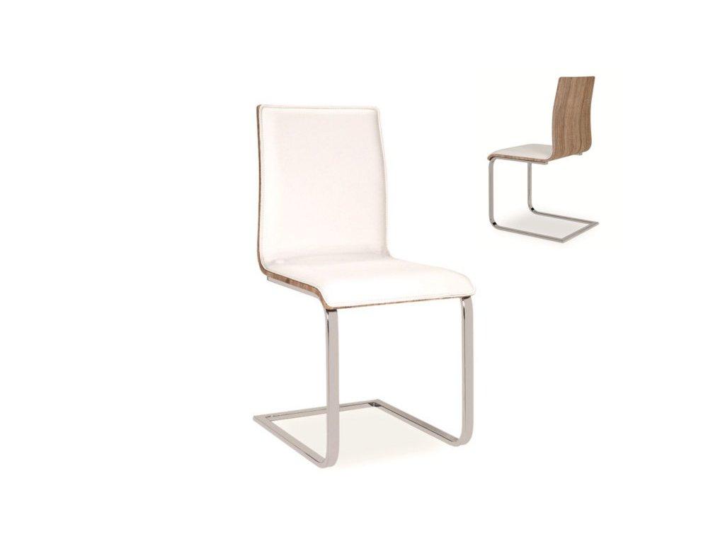 Židle H690 bílá/dub sonoma