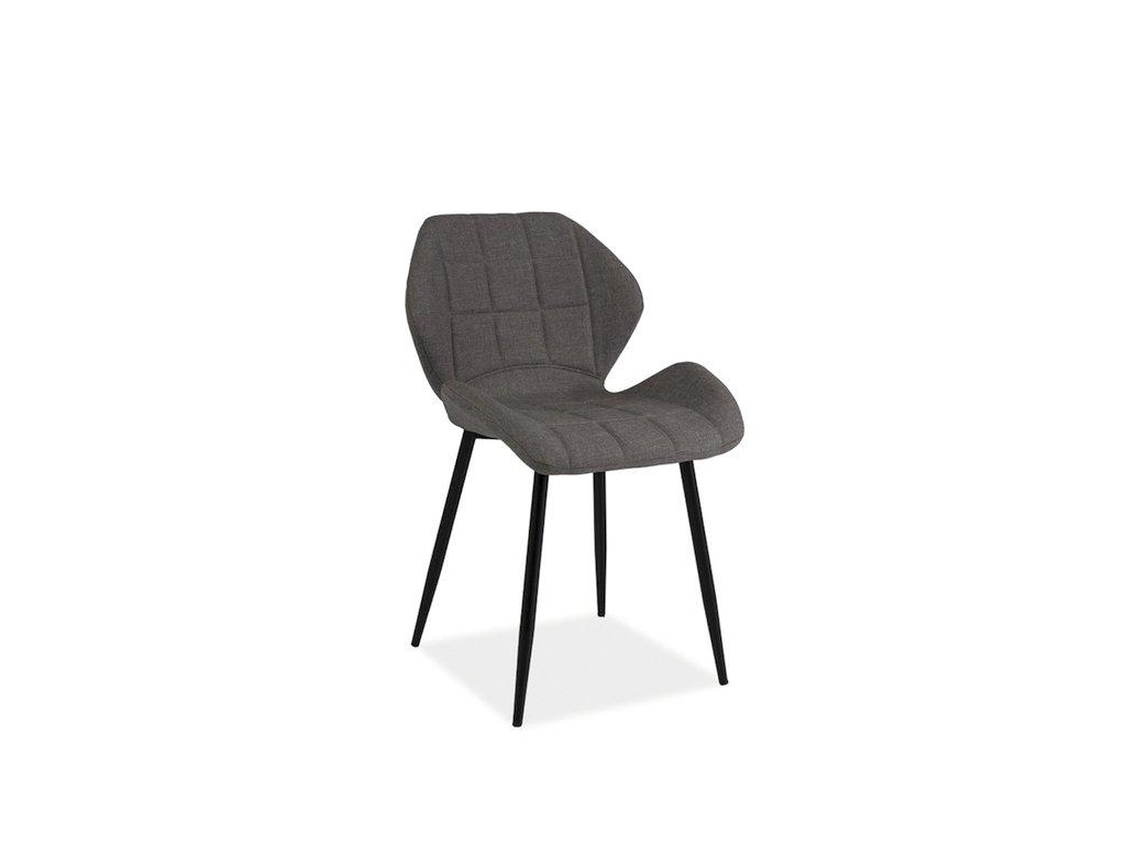 Židle HALS šedý materiál