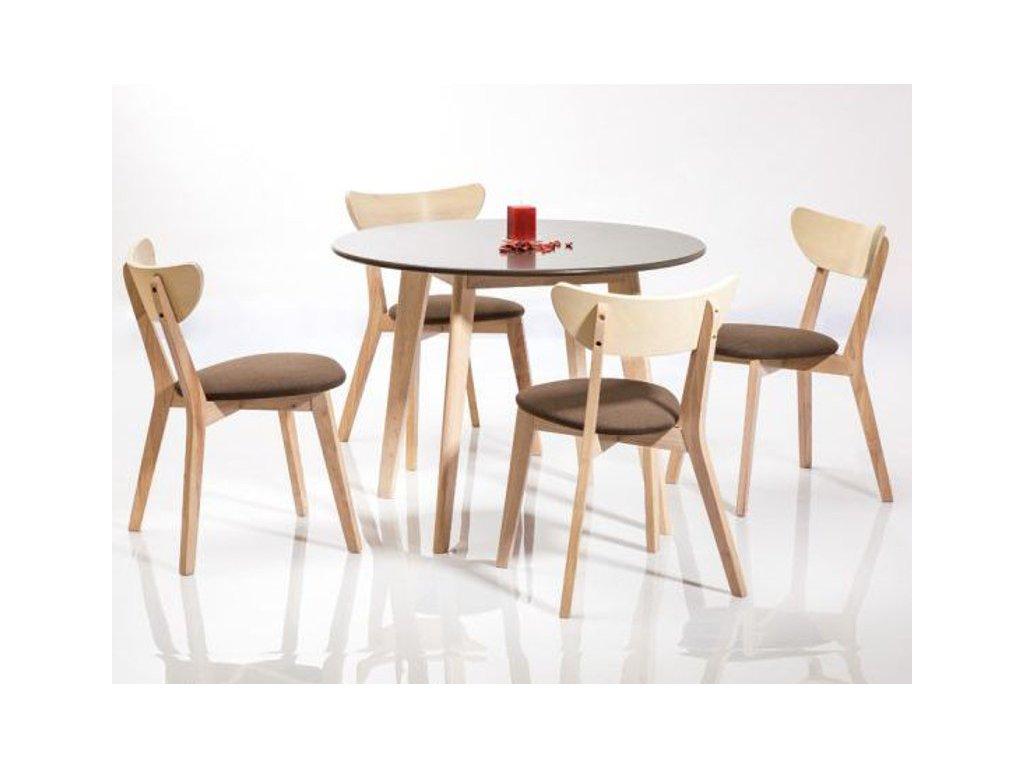 Stůl HELSINKI dub bělený/šedý