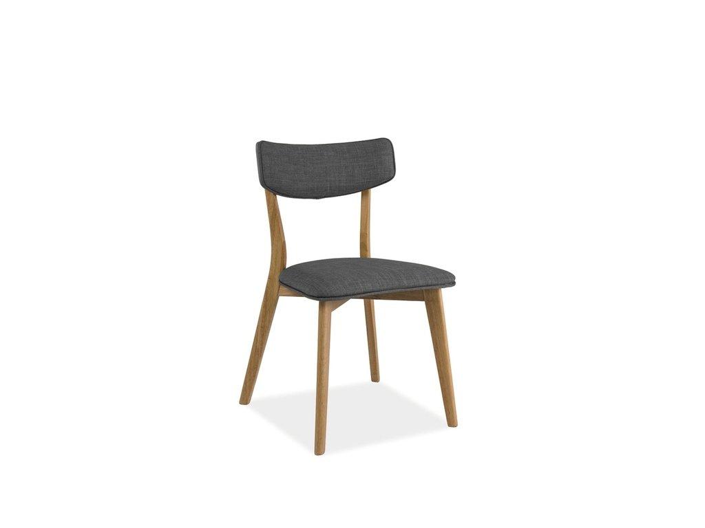 Židle KARL dub/šedá polstrování.40