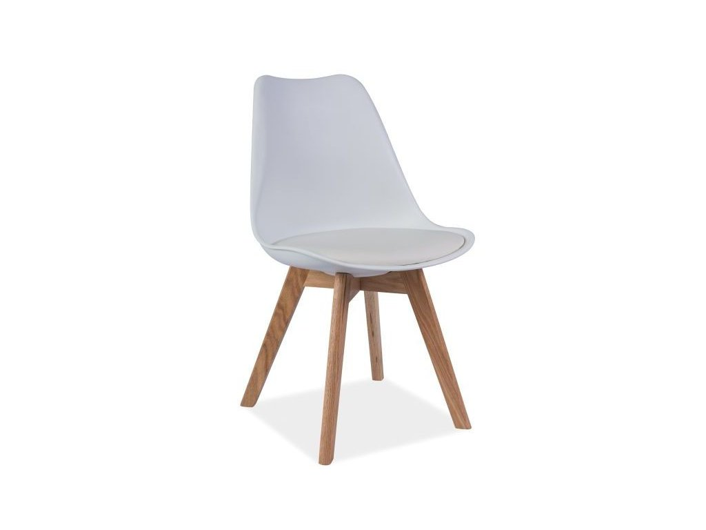Židle KRIS dub/bílá