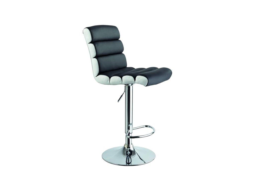 Barová židle C-617 černý/bílý