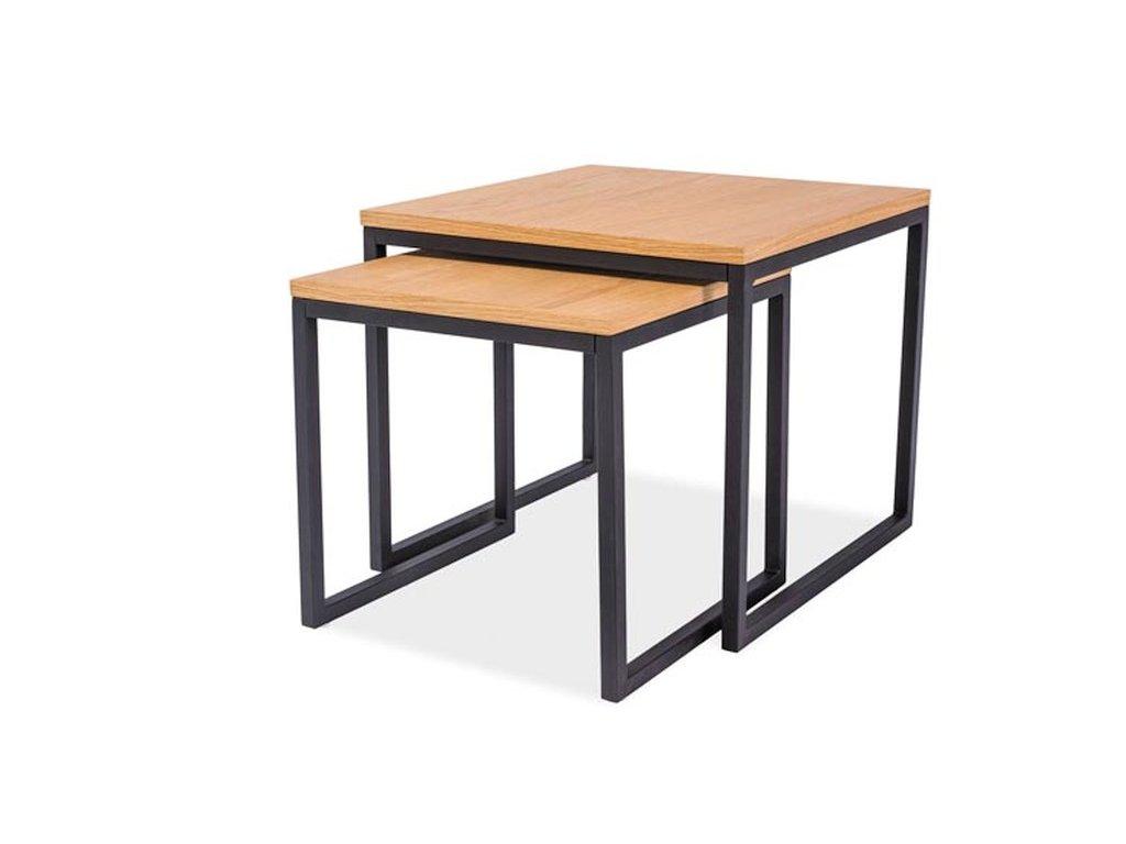 Konferenční stolek LARGO duo dub/černá (sada)