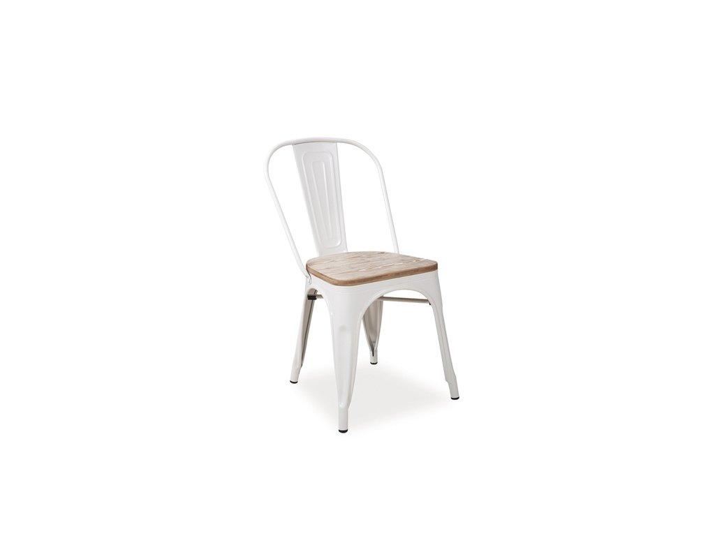 Židle LOFT ořech/bílá