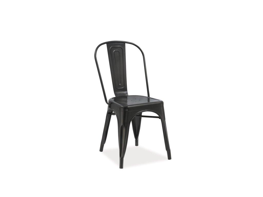 Židle LOFT černá mat