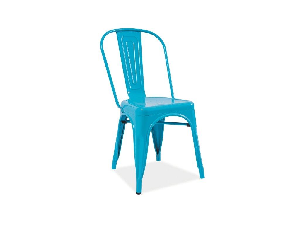 Židle LOFT modrá