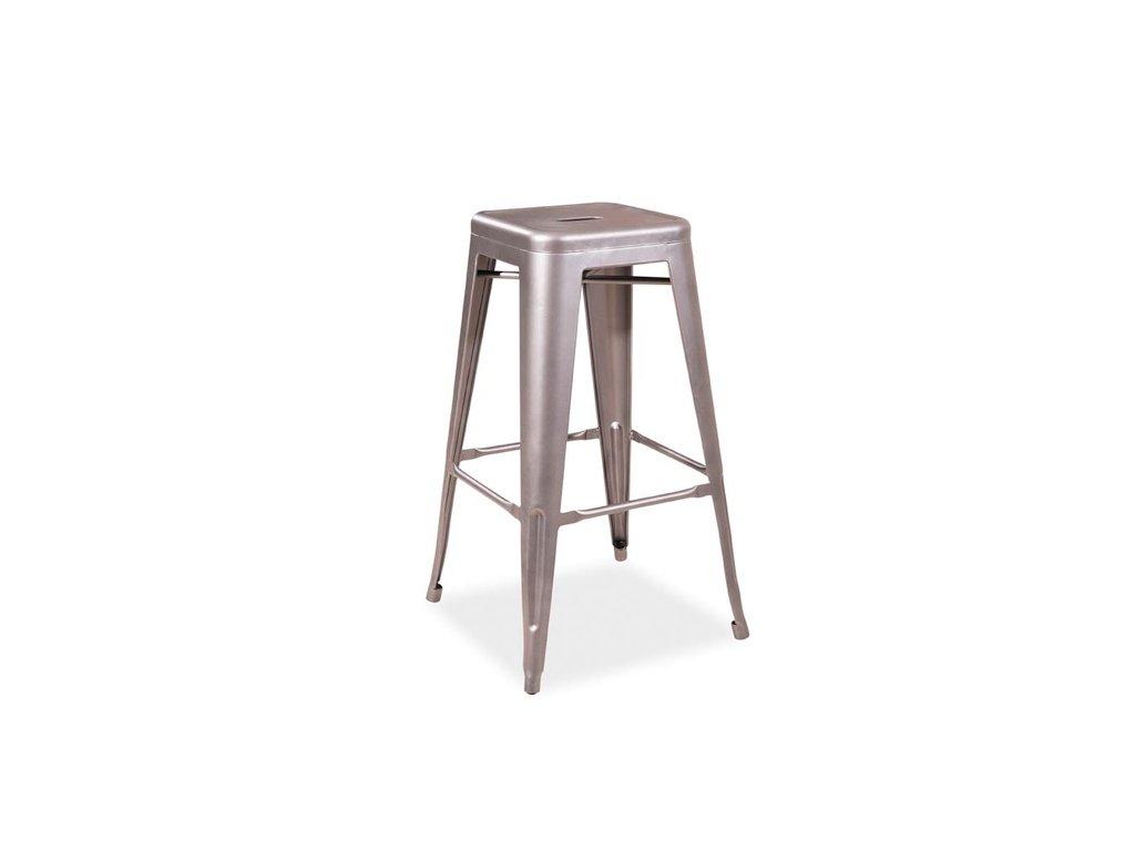 Barová židle LONG ocel nerez
