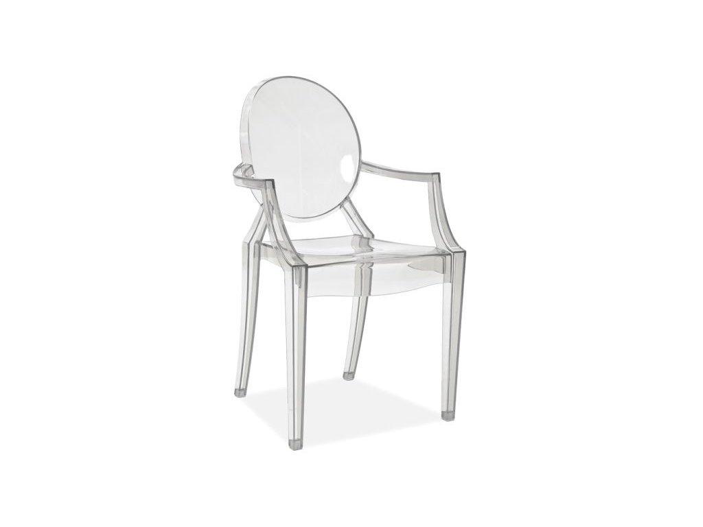 Židle LUIS transparentní