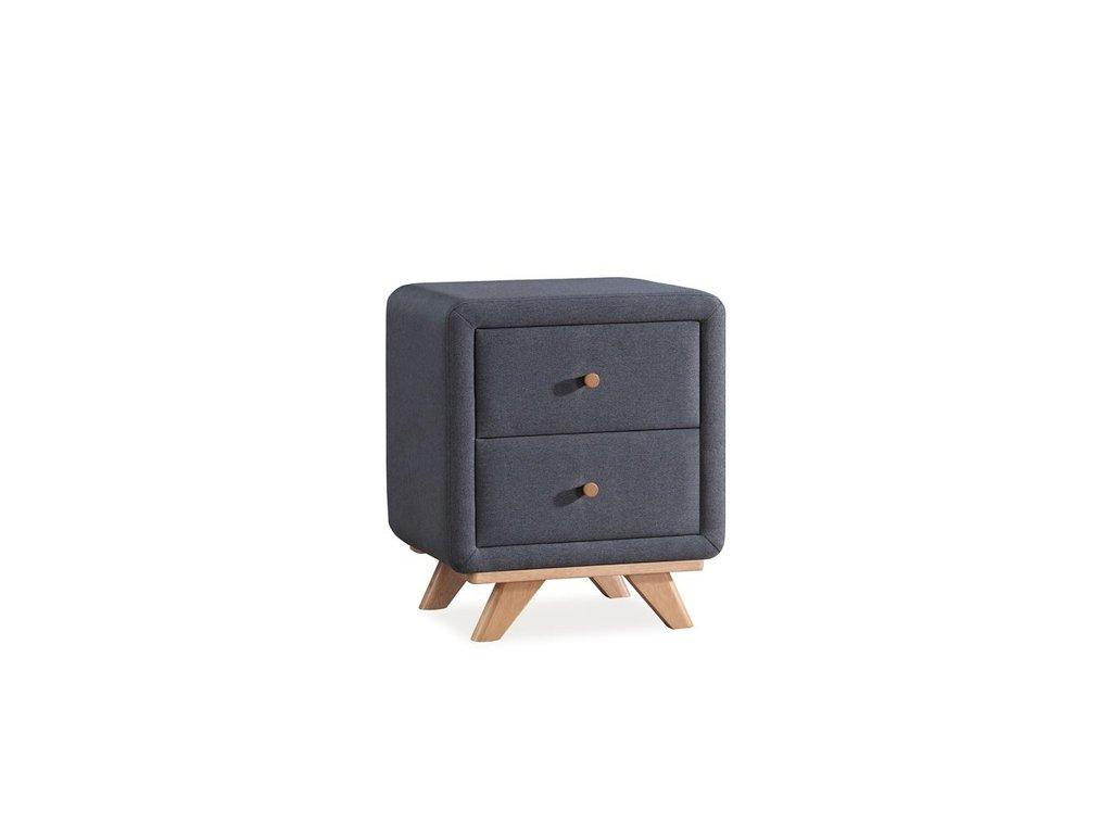 Noční stolek MELISSA barva šedá polstrování. 02