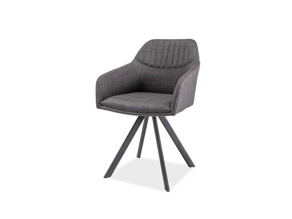Židle MILTON II šedá/šedá polstrování.25