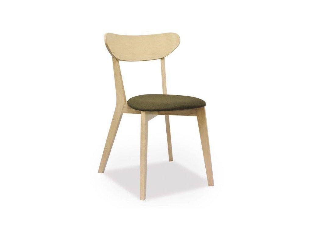 Židle NARVIK dub bělený/šedá polstrování.39