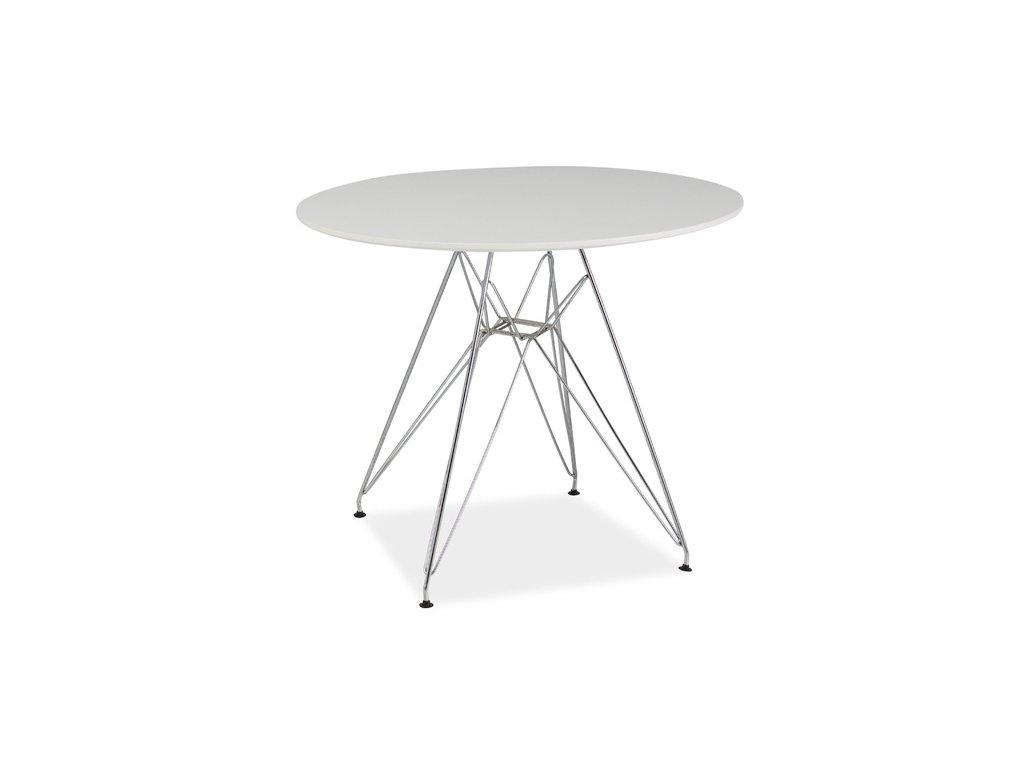 Stůl NITRO bílý/chrom 90x90