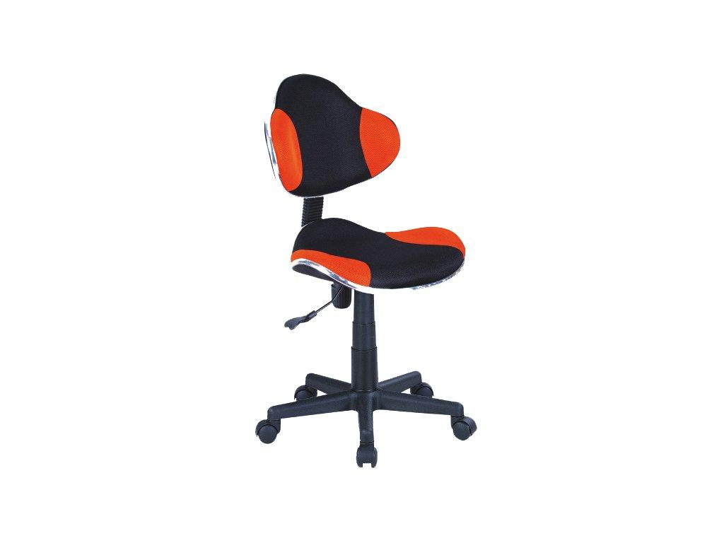 Křeslo otočné Q-G2 oranžovo/černé