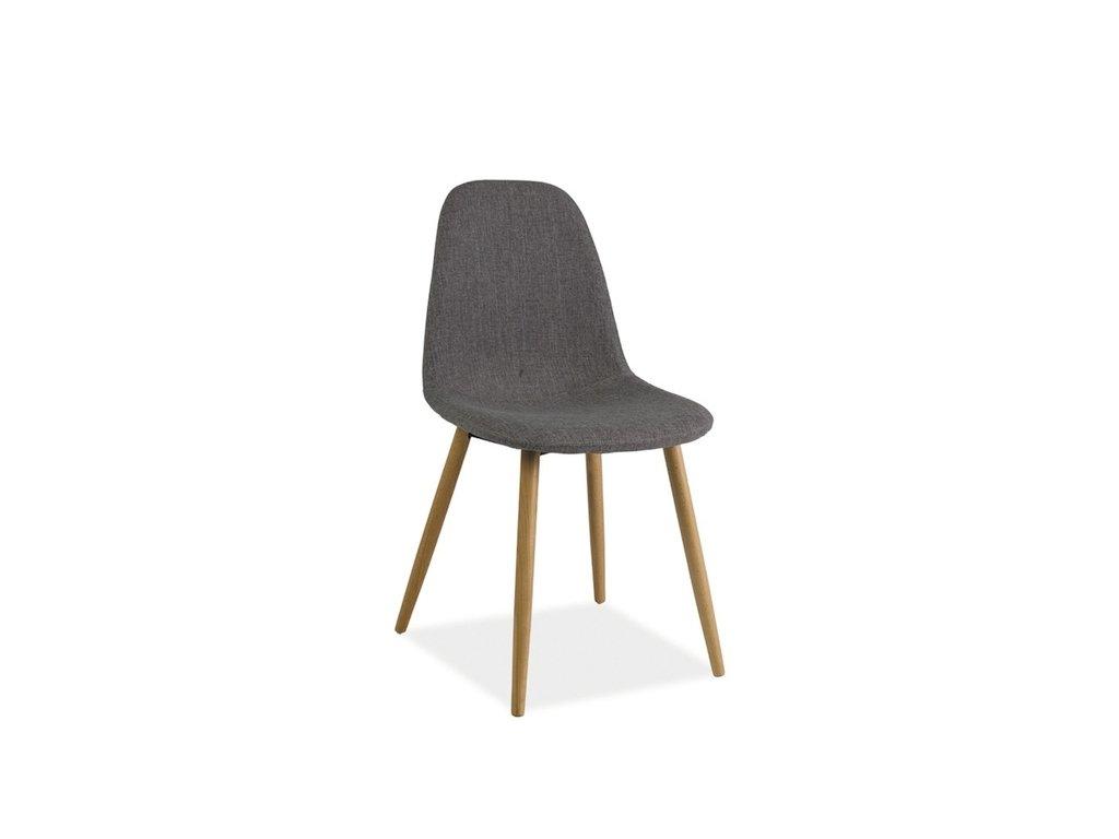 Židle RUBI buk šedý materiál