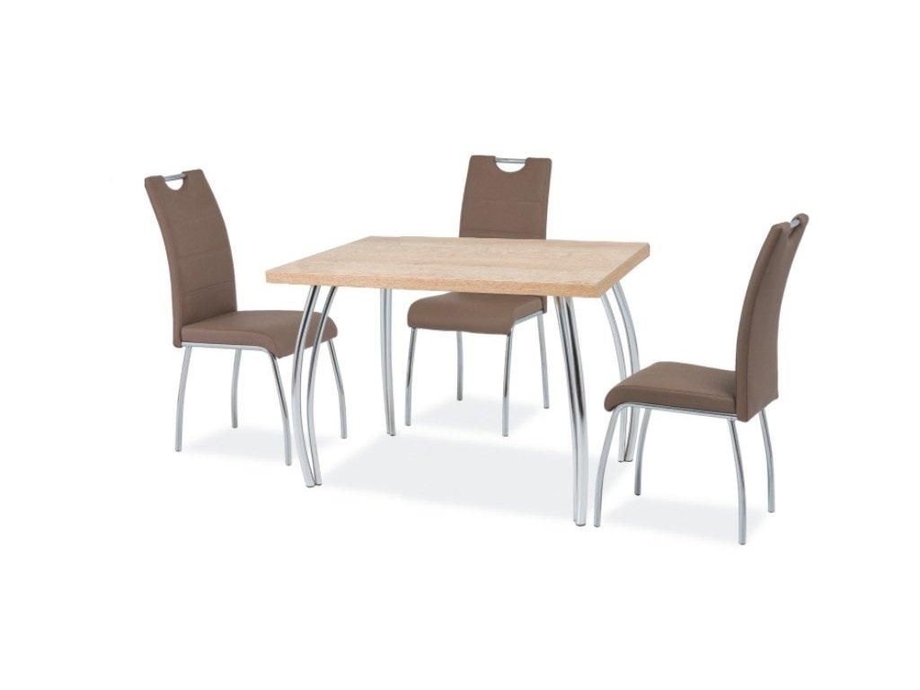 Stůl SK-2 dub sonoma/chrom 102x64