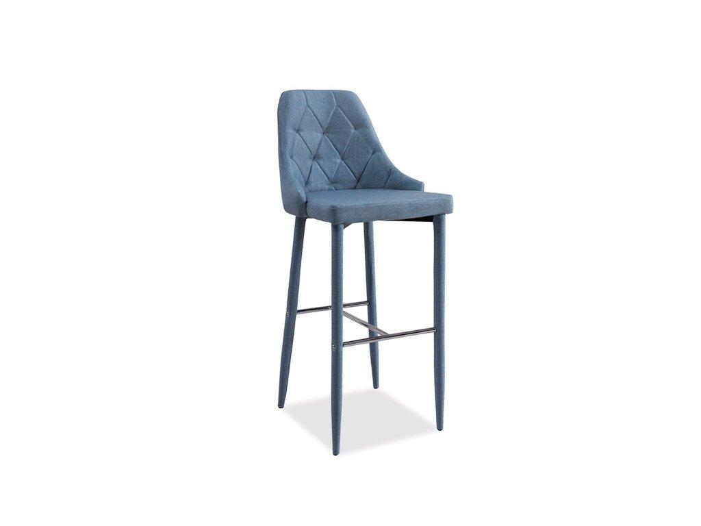 Barová židle TRIX H-1 denim materiál