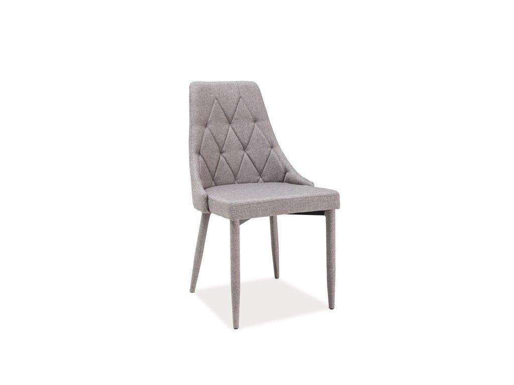Židle TRIX šedý materiál