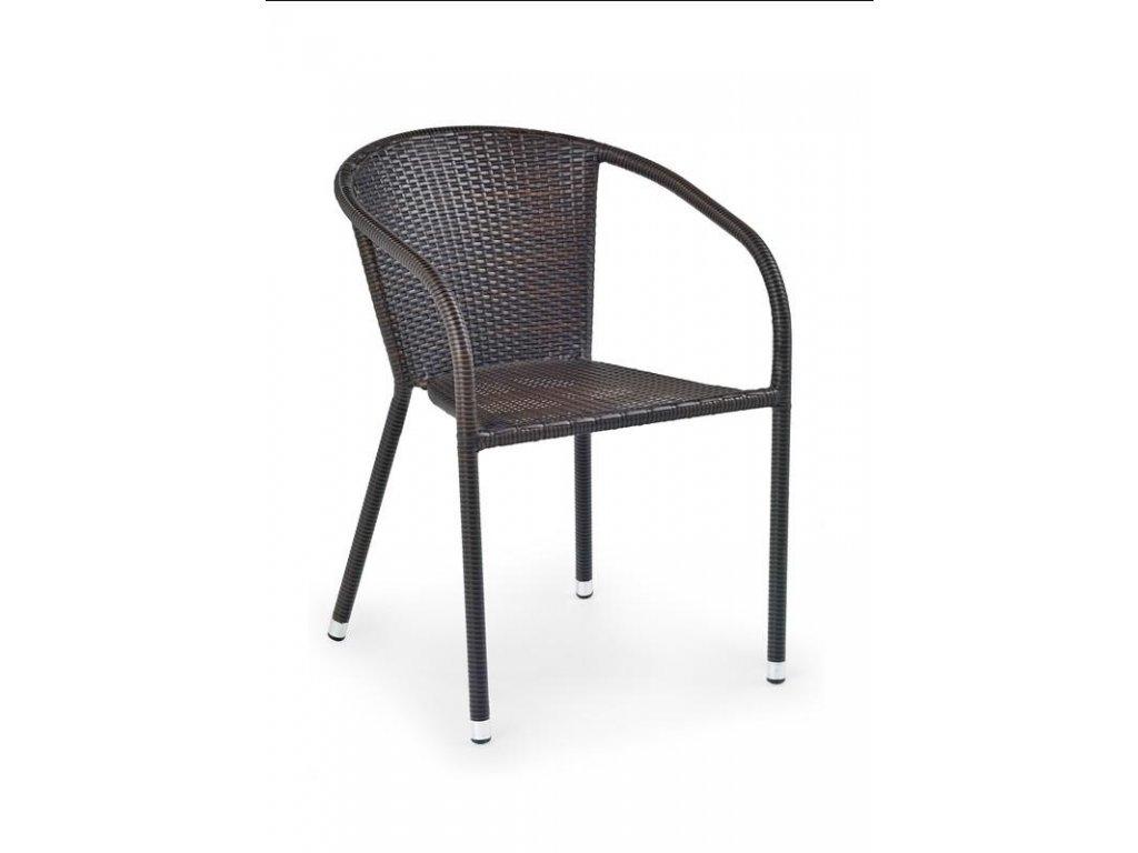 MIDAS židle tmavě hnědá