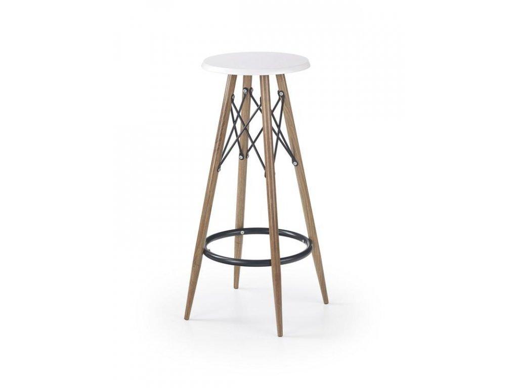 H68 barová židle bílá