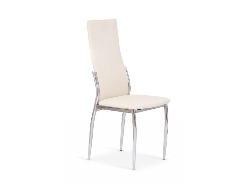 K3 židle chrom / vanilková