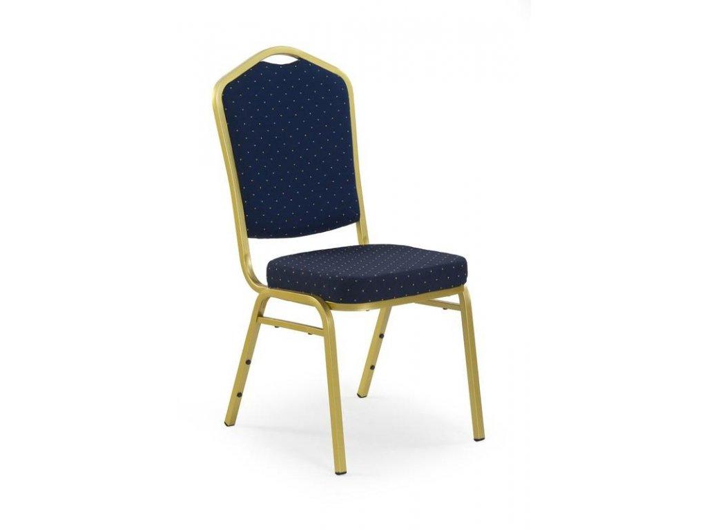 K66 židle modrá, Rošt: zlatý
