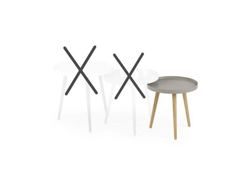 MALAGA 3 stolek konferenční béžový