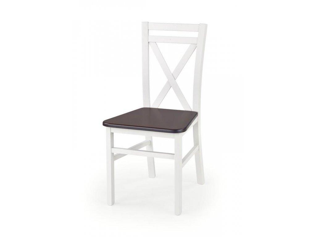 DARIUSZ 2 židle bílá / tmavý ořech
