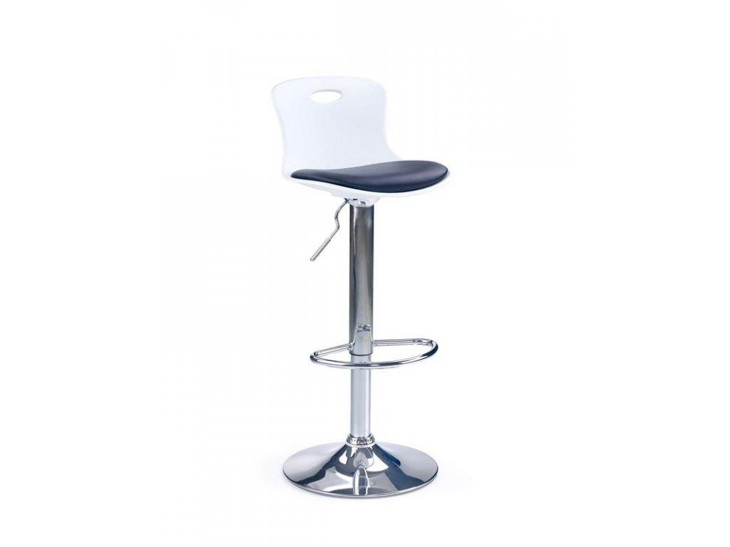 H49 barová židle černo-bílá