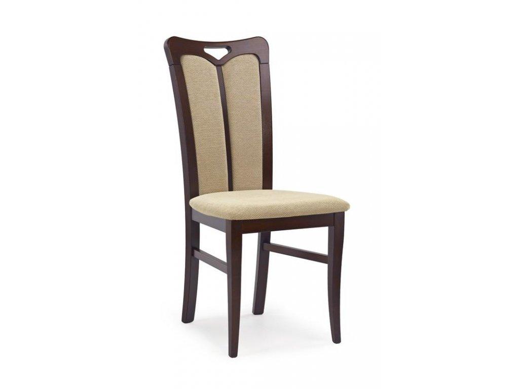 HUBERT2 židle tmavý ořech / Polstrování: Torent Beige