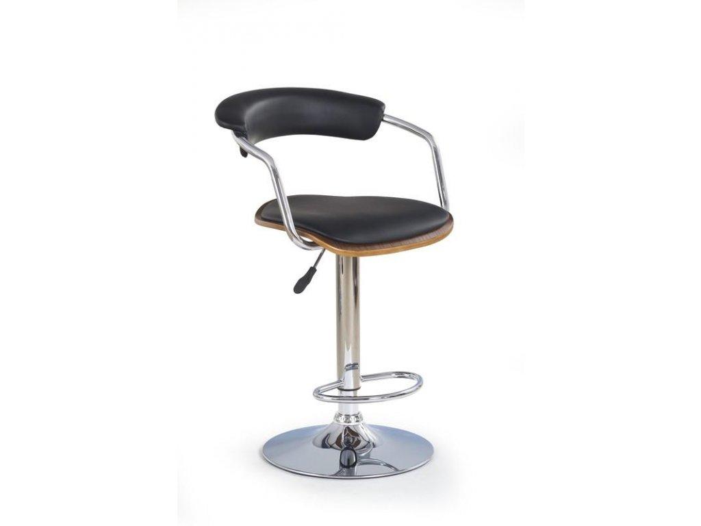 H19 barová židle ořech-černá