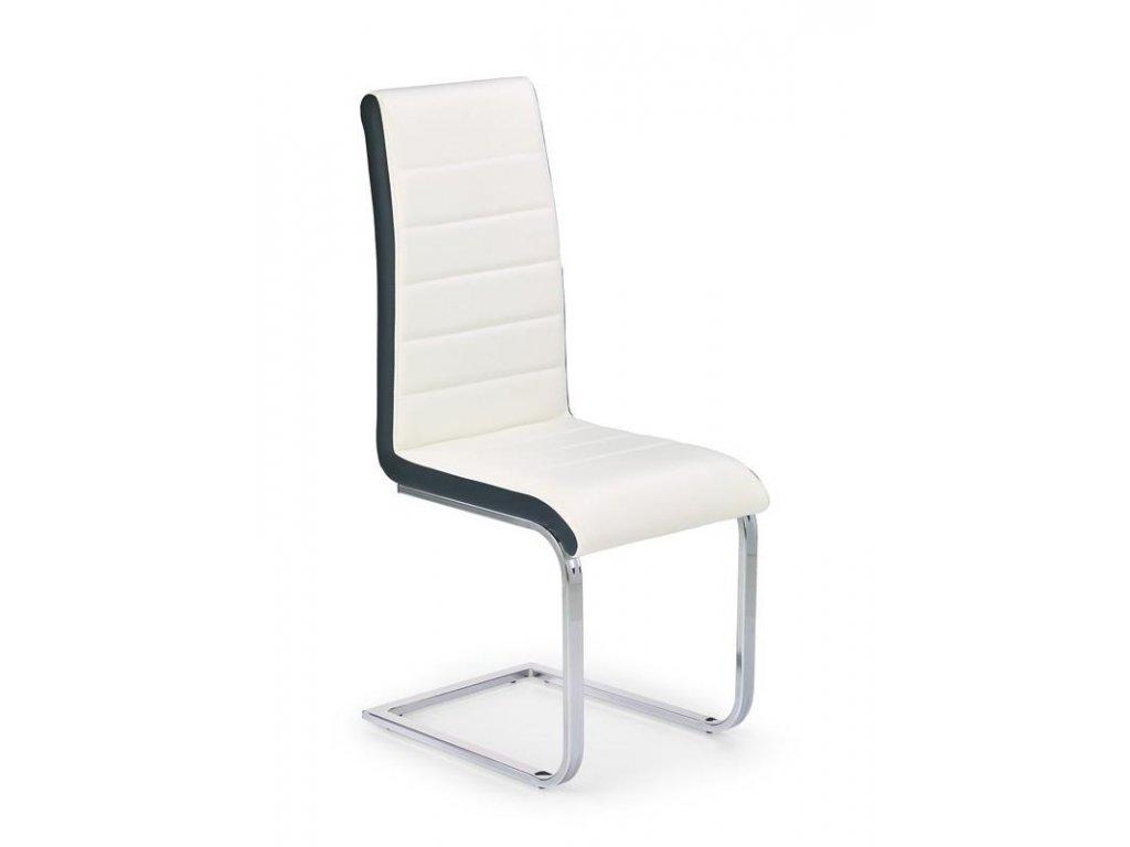 K132 židle bílo - černá