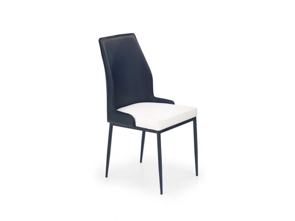 K199 židle bílo - černá