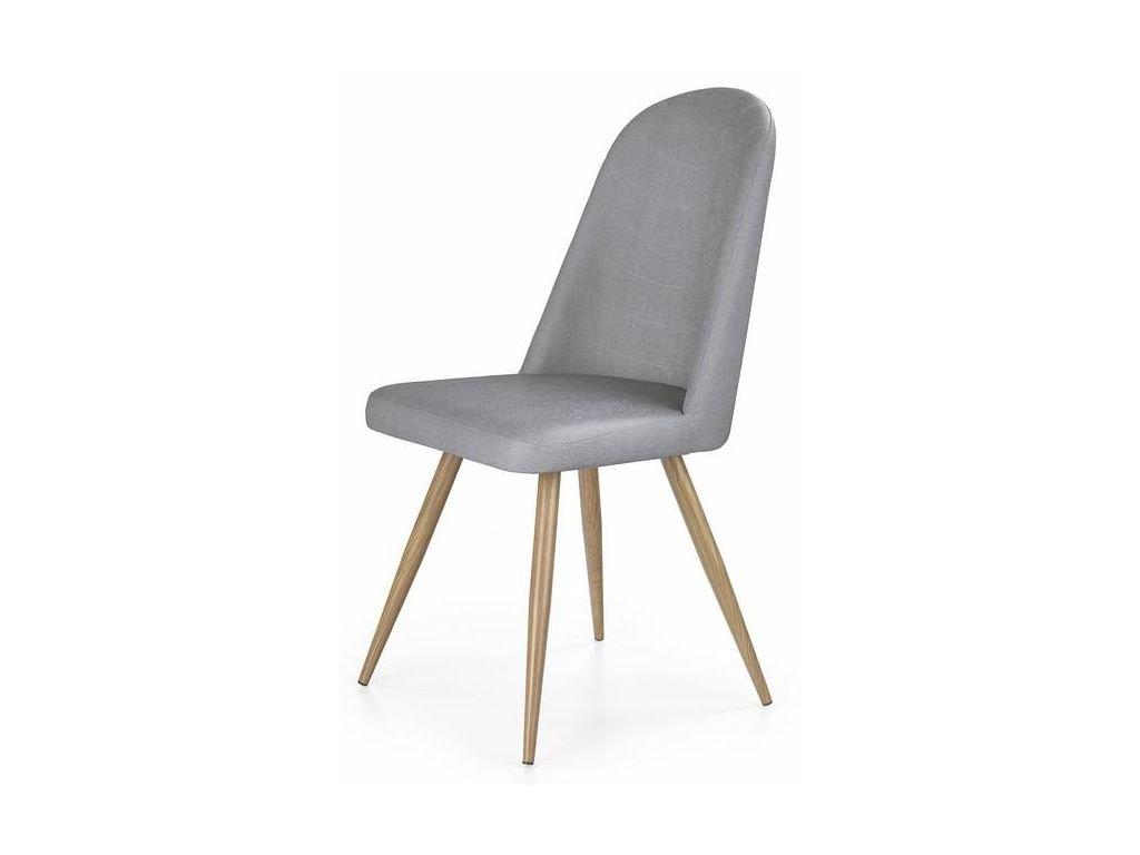 K214 židle šedá / dub velbloudí