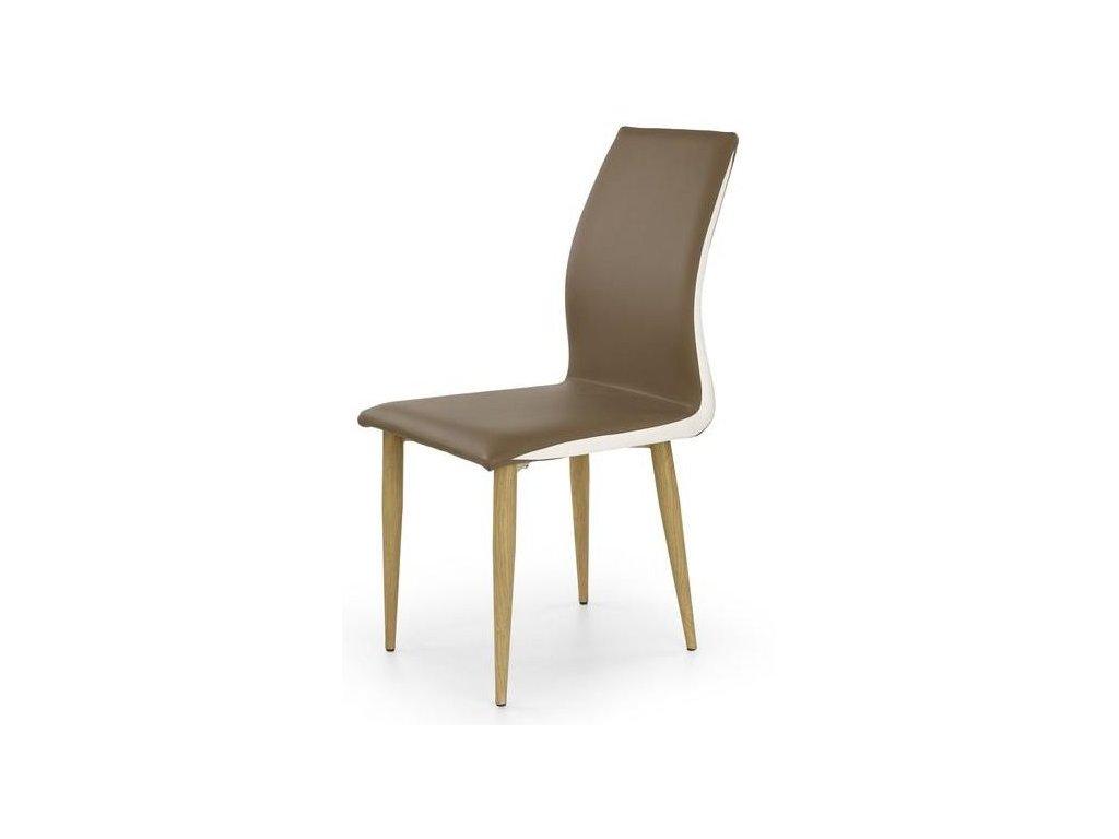 K264 židle cappucino / bílá