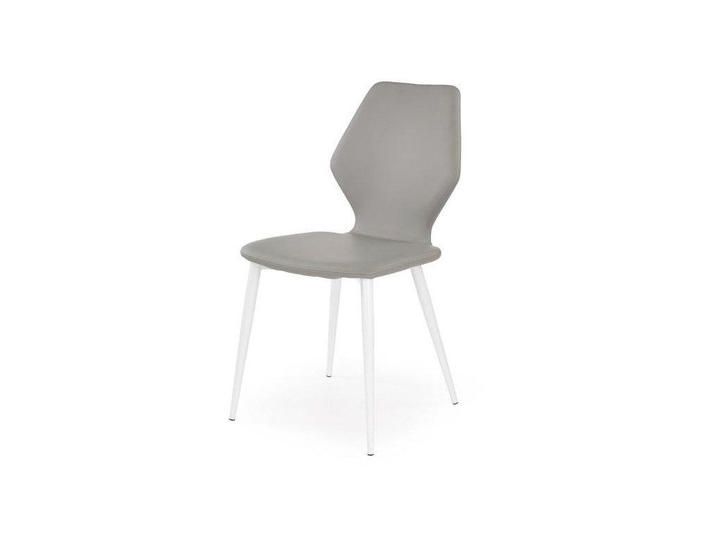 K249 židle bílá šedá